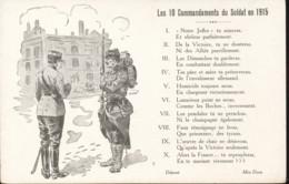 Les 10 Commandements Du Soldat En 1915 - Patriottisch