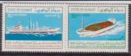 Kuwait 1982 ** Mi.938/39 NAVI SHIPS Nave Da Carico Freighter NAVE CONTAINER - Kuwait