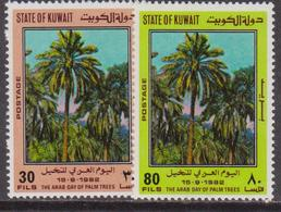 Kuwait 1982 ** Mi.940/41 Palme Palms Piante Plants Flora - Kuwait
