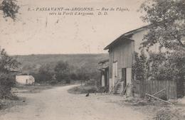 51 PASSAVANT-EN-ARGONNE RUE DU PAQUIS VERS LA FORET D'ARGONNE - Andere Gemeenten
