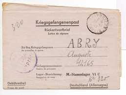 - Lettre STALAG VI C 13/a Pour CHINDRIEUX (Savoie) 26.11.1943 - A ETUDIER - - 2. Weltkrieg 1939-1945