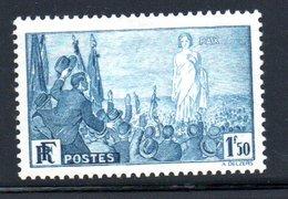N 326 / 1 Franc 50 Centimes Bleu  /  NEUF **  /  Côte 40 € - France