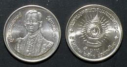 Thailand Coin 5 Baht 1987 60th Birthday King Rama 9 Y195 UNC - Thailand