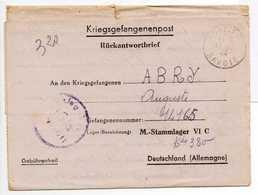 - Lettre STALAG VI C 13/a Pour RUFFIEUX (Savoie) 16.1.1944 - A ETUDIER - - 2. Weltkrieg 1939-1945