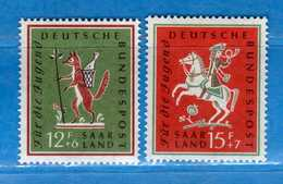 (Mn1) SAAR LAND **- 1958 - JEUNESSE. Yvert. 415-416. MNH   Vedi Descrizione - 1957-59 Federazione