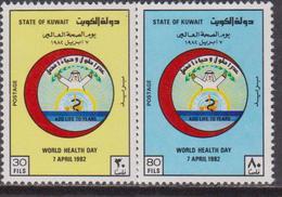 Kuwait 1982 ** Mi.928/29 Celebriamo World Health Day - Kuwait