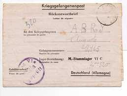 - Lettre STALAG VI C 13/a Pour CHINDRIEUX (Savoie) 21.2.1944 - A ETUDIER - - 2. Weltkrieg 1939-1945