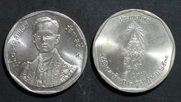 Thailand Coin 5 Baht 1988 42nd Reign King Rama 9 Y211  UNC - Thailand