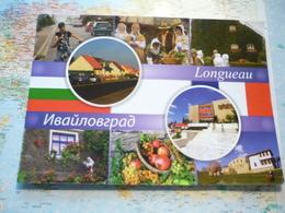 Carte Grand Format Jumelage Longueau-Ivaylovgrad - Bulgaria