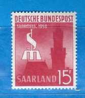 (Mn1) SAAR LAND **- 1958 - FOIRE De SARRE. Yvert. 417. MNH   Vedi Descrizione - 1957-59 Federazione