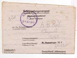 - Lettre STALAG VI C 15 Pour CHINDRIEUX (Savoie) 8.3.1944 - A ETUDIER - - 2. Weltkrieg 1939-1945