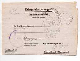 - Lettre STALAG VI C 16/a Pour CHINDRIEUX (Savoie) 3.11.1943 - A ETUDIER - - 2. Weltkrieg 1939-1945