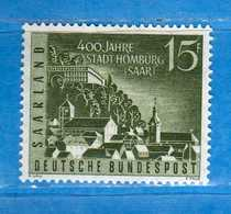 (Mn1) SAAR LAND **- 1958 - HOMBOURG. Yvert. 418. MNH   Vedi Descrizione - 1957-59 Federazione