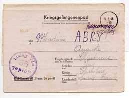 - Lettre STALAG VI C 36 Pour CHINDRIEUX (Savoie) 16.4.1944 - A ETUDIER - - 2. Weltkrieg 1939-1945
