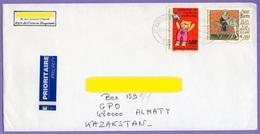 France. Cover. Real Post. Kazakhstan - France