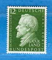 (Mn1) SAAR LAND **- 1958 - SCHULZE-DELITZSCH. Yvert. 420. MNH   Vedi Descrizione - 1957-59 Federazione