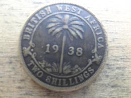 British West Africa  2  Shillings  1938 Kn  Km 24 - Colonie Britannique