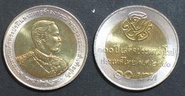 Thailand Coin 10 Baht Bi Metal 1998 100th King Rama5 Visit Europe Y347 UNC - Thailand