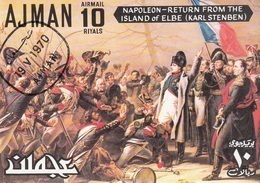 "Ajman 1970 Bf. 233  ""Napoleone. Ritorno ...Elba"" Quadro Dipinto Da K. Steuben Imperf. CTO Paintings - Napoleon"