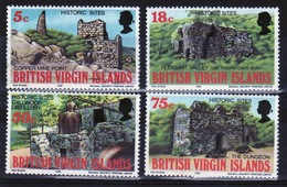 British Virgin Islands 1976 Queen Elizabeth Full Set Of Stamps Celebrating Historic Sites. - British Virgin Islands