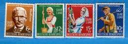 (Mn1) SAAR LAND **- 1958 - Au Service De L'Humanité. Yvert. 423 à 426. MNH   Vedi Descrizione - 1957-59 Federazione