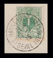 COB N° 26 - Oblitéré - LE HAVRE (SPECIAL) SEINE - INFRE (Pas Courant!) - 1869-1883 Leopold II
