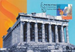 Australia 2000 Maxicard Sc 1873-1874 2000 Olympic Games Sydney Joint With Greece - Cartes-Maximum (CM)
