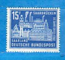 (Mn1) SAAR LAND **- 1959 - SARREBRUCK. Yvert. 428. MNH   Vedi Descrizione - 1957-59 Federazione