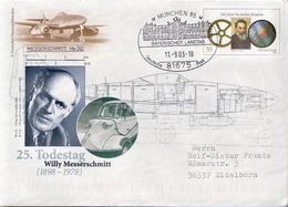 Postal History: Germany Postal Stationery Cover, Messerschmitt, München Cancel - Militaria