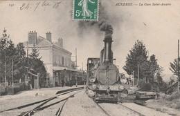 CPA:TRAIN N° 2249 GROS PLAN GARE SAINT AMTRE AUXERRE (89)..ÉCRITE - Auxerre