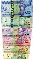 TURKMENISTAN 1 5 10 20 50 100 MANAT 2017 P-NEW UNC COMMEMORATIVE FULL SET 6 PCS - Turkmenistan
