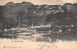 Cartolina St. Moritz Dorf Panorama 1906 - Cartoline
