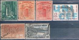 Pakistan 1961 / 63  -  Michel  148 + 150 + 153 + 171 + 175 + 1902  ( Usados ) - Pakistán