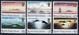 British Virgin Islands 1980 Queen Elizabeth Full Set Of Stamps Celebrating Island Profiles. - British Virgin Islands