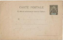 LINT4 - STE MARIE DE MADAGASCAR  CARTE POSTALE ACEP N° 2 NEUVE TÂCHES SUR RECTO ET SUR VERSO - Madagaskar - Sainte-Marie (1894-1898)