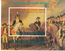 """Bf. 169 Guinea Equatoriale 1975 """" La Resa Di Lord Cornwallis """" - Quadro Dipinto Da J. Trumbull Neoclassicismo Imperf. - Indipendenza Stati Uniti"""