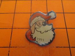 1018b Pins Pin's / Rare & TB état / THEME NOEL : PERE NOEL COMITE D'ENTREPRISE NORPAC - Noël