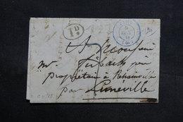 FRANCE - Lettre De Paris Pour Lunéville En 1838 - L 31408 - 1801-1848: Precursors XIX