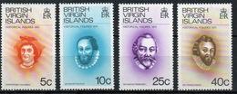 British Virgin Islands 1974 Queen Elizabeth Full Set Of Stamps Celebrating Historical Figures. - British Virgin Islands