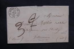 FRANCE - Lettre De St Germain En Laye Pour Villeconnin En 1848 , Voir Cachets Au Verso - L 31409 - 1801-1848: Precursors XIX