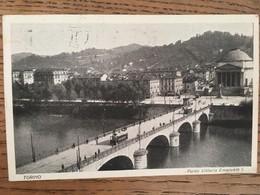 CPA, Torino, Ponte Vittorio Emanuele I , écrite En 1928, Timbre - Bridges