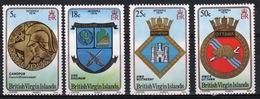 British Virgin Islands 1974 Queen Elizabeth Full Set Of Stamps Celebrating Interpex (Naval Crests). - British Virgin Islands