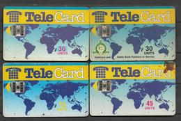 PAKISTAN USED CHIP PHONECARD  FOUR DIFFERENT UNITS DINOSAUR PICTURE - Pakistan