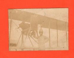 Aereo Regia Aviazione Aerei Biplano E Pilota Foto Primo 900 - Aviazione