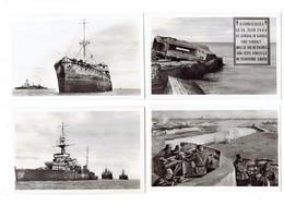 Lot 4 Cpa - 50 - COURSEULLES S/mer GRAYE Juno-beach Débarquement 1944 Bateaux échoués Blockaus Général De Gaulle Soldats - France