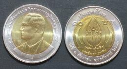 Thailand Coin 10 Baht Bi Metal 2004  Addictive Drug Eradication Day Y414 UNC - Thailand