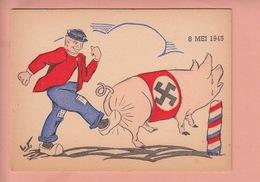 OLD POSTCARD - MILITARY -  WWII - ANTI-HITLER - ANTI-NAZI -  ' GERMAN PIG ' - Guerre 1939-45