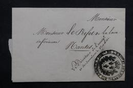 FRANCE - Lettre Du Directeur De L 'enregistrement De Nantes Pour Le Préfet De La Loire  - L 31411 - 1801-1848: Precursors XIX