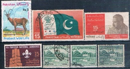 Pakistan 1962 / 76 -  Michel  145 + 180 + 236 + 238 + 240 + 414  ( Usados ) - Pakistán