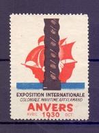 CINDERELLA International Exposition ANVERS 1930   (GIUGN1900B99) - Erinnofilia